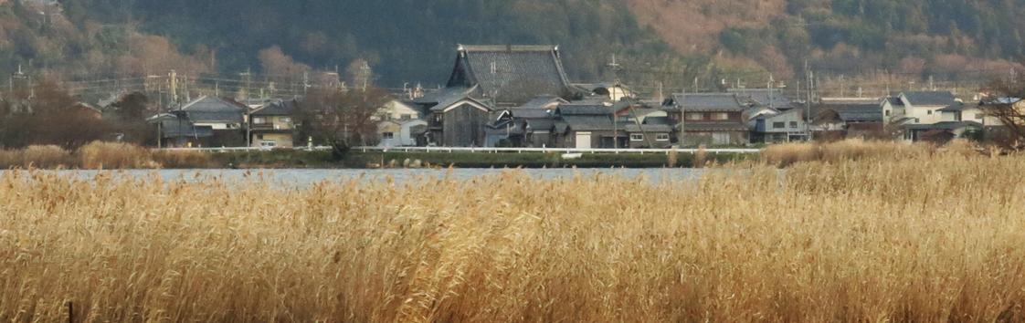 伊庭内湖の農村景観